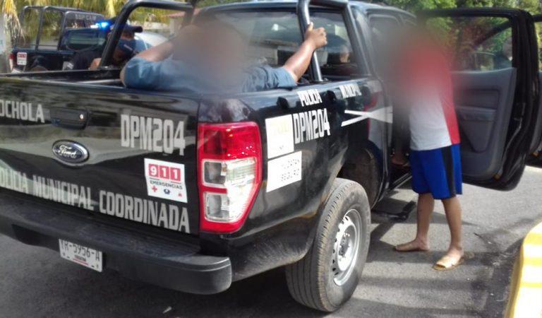 Policías de Chocholá detenidos ebrios en Campeche