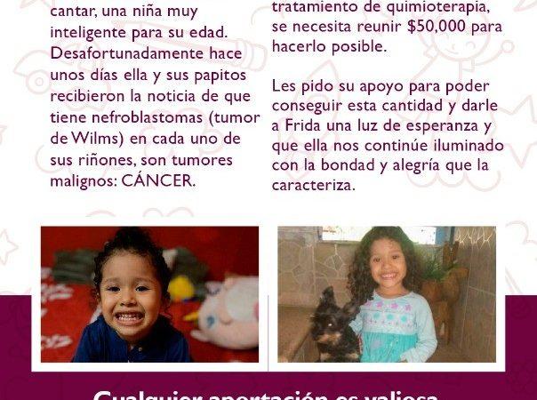 Una menor de 4 años padece cáncer y necesita ayuda para su tratamiento