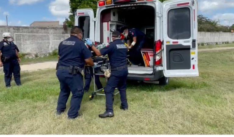 Paramédicos de la SSP trasladan en helicóptero a lesionado grave