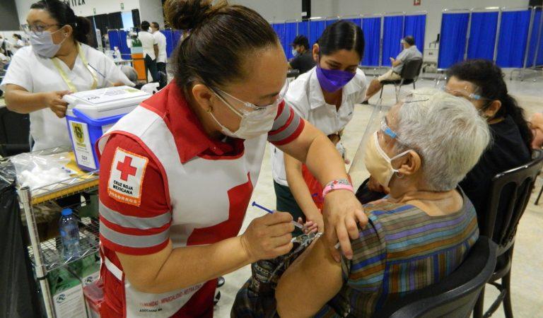 Continúa la Cruz Roja con su apoyo en la vacunación contra el Covid-19