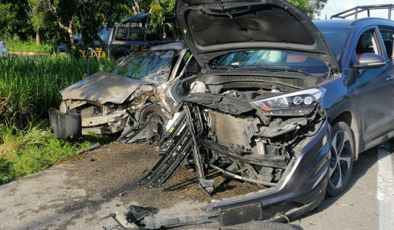 Aparatoso choque en la Mérida-Motul, entronque a Conkal