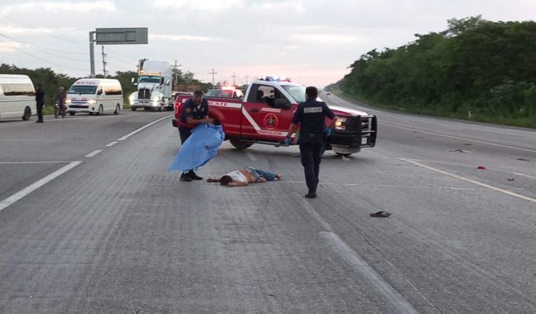 Muere al ser atropellado por una moto en el cruce de Tekat